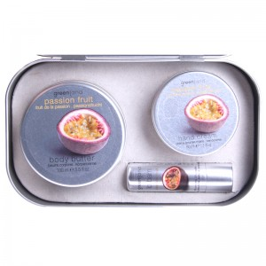 Greenland Набор: крем для тела, крем для рук, бальзам для губ, маракуйя  Greenland - Balm & Butter Set Passion Fruit 1303-SKN14 100+50 мл + 3,9 г