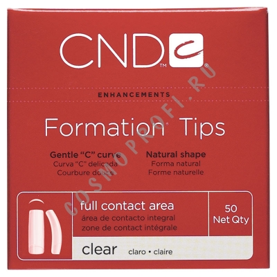 Типсы № 1 CND - Clear Formation 16381 50 шт.