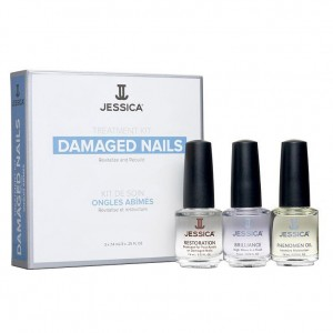 Jessica Набор для поврежденных ногтей (Kits / Damaged Nail Kit Mini: Restoration, Brilliance, Phenomen Oil) MJ 148 3*7,4 мл
