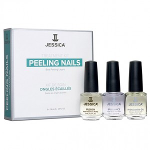 Jessica Набор для слоящихся ногтей (Kits / Peeling Nail Kit Mini: Fusion, Brilliance, Phenomen Oil) MJ 147 3*7,4 мл