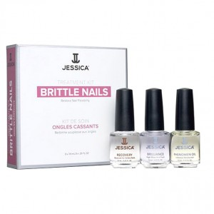 Jessica Набор для хрупких ногтей (Kits | Brittle Nail Kit Mini: Recovery, Brilliance, Phenomen Oil) MJ 146 3*7,4 мл
