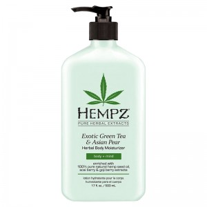 Hempz Увлажняющий лосьон для тела Зеленый чай Hempz - Herbal Body Moisturizer Exotic Green Tea&Asian Pear 2169-03 500 мл free shipping 60cm double towel bar brief towel holder solid brass made gold finished bath products bathroom accessories