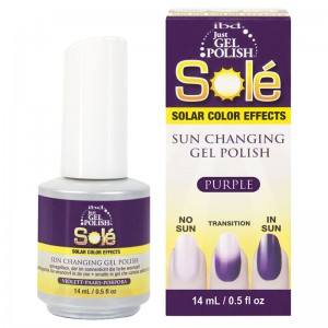 Ibd Гелевый лак-хамелеон Пурпурный (Just Gel Polish / Sole Solar Color Effects Purple) 19408 14 мл
