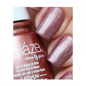 China Glaze Гелевый лак Выпьем космос (Gelaze / Gel-N-Base Polish Strike Up A Cosmo) 82252 9,76 мл