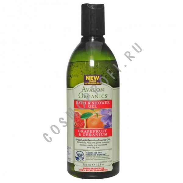 ���� ��� ����� � ���� � ������ ���������� � ������ Avalon Organics - Grapefruit&Geranium Bath&Shower Gel AV35183 355 ��