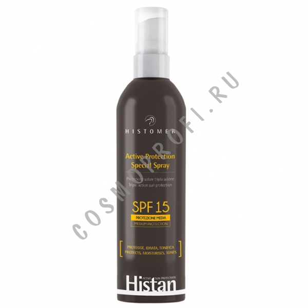 Histomer Солнцезащитный спрей для лица и тела SPF-15 (Histan Active Protection | Spray) HISTAP09 200 мл