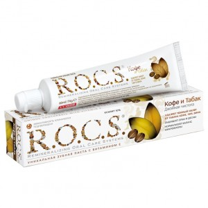 ROCS Зубная паста Кофе и табак (Adult / Coffee and Tobacco) 470623 74 г