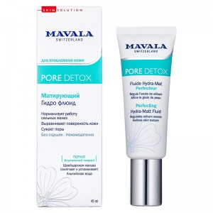 Mavala Матирующий гидрофлюид (Face Care / Pore Detox Perfecting Hydra-Matt Fluid) 9053914 45 мл